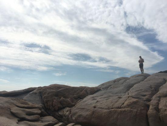 Punta Molara - šplháme po kamenech